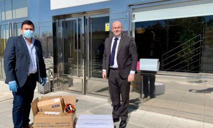 ávila recibe una gran donación de material de protección