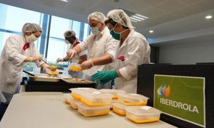 iberdrola ayuda con miles de menús solidarios